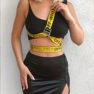 Off-White Industrial Belt — YELLOW